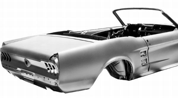 F : Kerangka Bodi Mustang Convertible Besutan 1967 (Autoevolution)