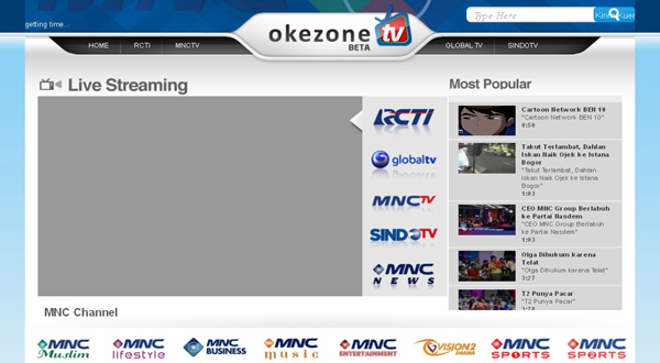 Okezone.tv, Live Streaming Bebas Buffering