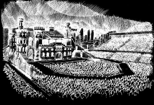 Rencana sketsa panggung Lady Gaga (foto: Big Daddy)