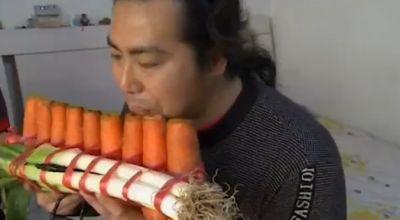 Sayur yang dibuat jadi alat musik (Foto: Telegraph)