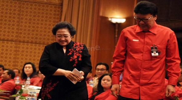Megawati Soekarnoputri dan Tjahjo Kumolo (Foto:okezone)