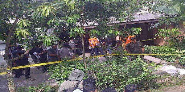 lokasi ledakan bom rakitan di Semarang (foto: okezone)