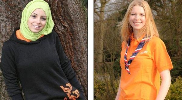 Seragam pramuka perempuan Muslim (Foto: Daily Mail)