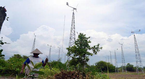 UGM & Kemenristek mengembangkan teknologi energi hibrid di Bantul, Jawa Tengah. (dok. UGM)