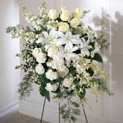 ilustrasi, Karangan bunga obituari (Foto: http://sdfbc.com)