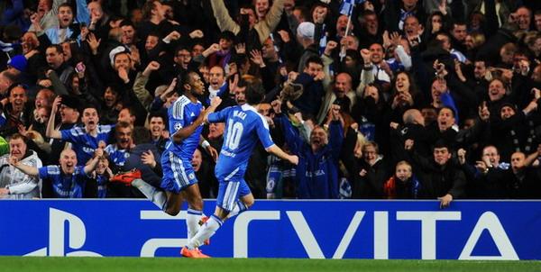 Didier Drogba merayakan gol semata wayangnya ke gawang Barcelona (Foto: Getty Images)