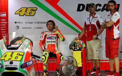 Valentino Rossi masih sulit jinakkan GP12 (Foto: Getty Images)