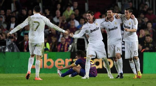 Cristiano Ronaldo merayakan gol kemenangan Madrid atas Barcelona (Foto: Getty Images)