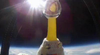 Ayam karet di luar angkasa (Foto: Telegraph)
