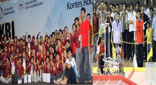 Tim UGM menyapu bersih juara satu dalam KRI-KRCI Regional III 2012. (foto: dok. UGM)
