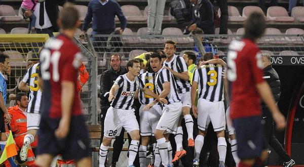 Selebrasi kemenangan para pemain Juventus. (Foto: Reuters)