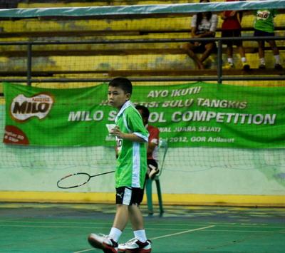 Salah satu peserta Milo School Competition/MILO