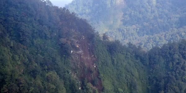 Lokasi jatuhnya pesawat Sukhoi (Heru Haryono/Repro)