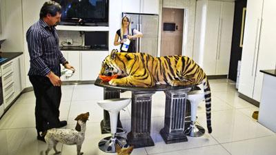 Ingin Aman, Akhirnya Pria Ini Pelihara Harimau