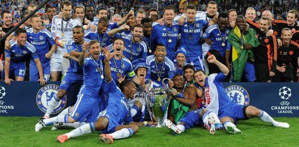 Selebrasi kemenangan Chelsea di final Liga Champions (Foto: Daylife)