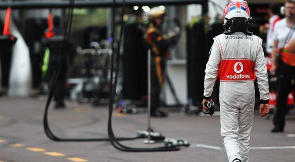 Jenson Button gagal menyelesaikan lomba di GP Monako pada Minggu (27/5) kemarin/Getty Images