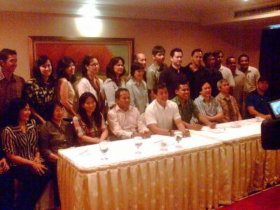 Sejumlah legenda bulutangkis Indonesia. (Foto: Randy Wirayudha)