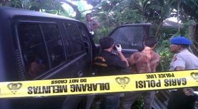TKP penembakan di Jalan Kapten Tendean, Bandung (Foto: Okezone/Iman H)