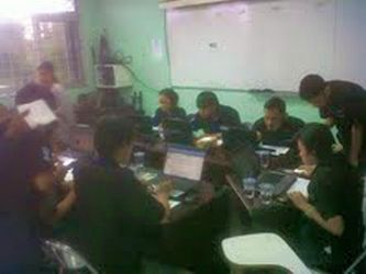 Suasana newsroom Okezone - Diamma