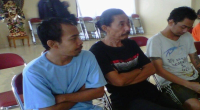 Tiga napi Lapas Kerobokan yang diamankan BNN (Foto: Okezone/Rohmat)