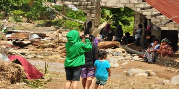 Lokasi banjir bandang di Batu Busuak, Kecamatan Pauh (foto: Rus Akbar/Okezone)