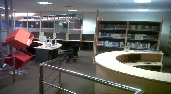 Perpustakaan kampus Binus International di mal fX (Foto: Margaret P/Okezone)