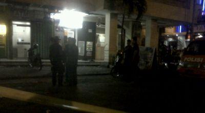 Lokasi Penembakan Pospol di Solo (Foto: Bramantyo/Okezone)