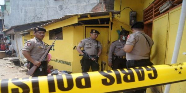 Rumah Terduga Teroris Thorik di Tambora, Jakarta barat (Foto:okezone)