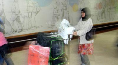 Ilustrasi, TKI saat pulang dari Arab (Foto: Dok Okezone)