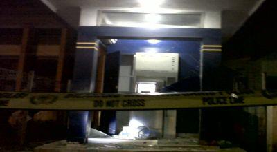 Mesin ATM Mandiri yang Meledak (Foto: Andi Aisyah/Okezone)