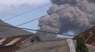 Ilustrasi letusan Gunung Lokon pada 2011 (Dok: Sindo TV)
