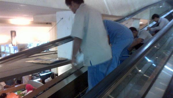 Lokasi bocah terjepit eskalator