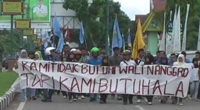 Unjuk rasa menolak RUU Wali Nanggroe (Dok: Ismail Marzuki/Sindo TV)