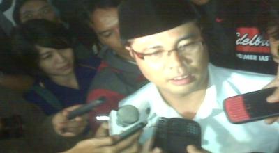 Aceng Fikri saat di Gedung Pakuan, Bandung (Foto: Iman Herdiana/Okezone)