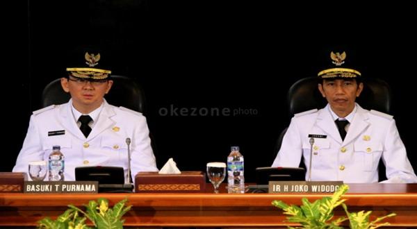 Joko Widodo-Basuki saat dilantik (foto: Heru/Okezone)