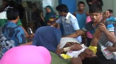 Korban luka kecelakaan dibawa ke RSUP M Djamil (Dok: Budi S/Sindo TV)