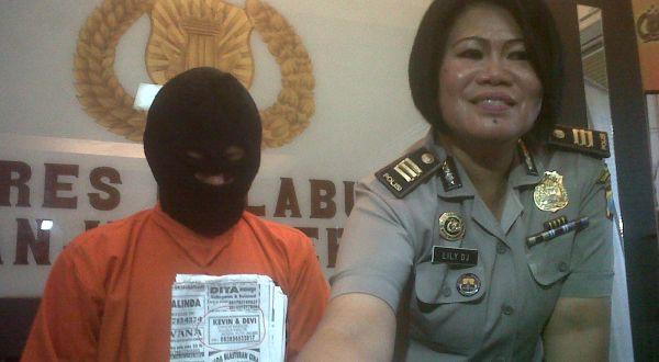 Kelvin saat gelar perkara oleh polisi (Foto: Nurul A/okezone)
