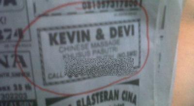 Iklan Kevin &  Devi di salah satu koran lokal di Surabaya (Foto: Nurul/Okezone)