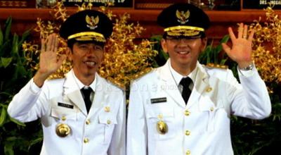 Gubernur DKI Jakarta Joko Widodo dan Wakil Gubernur Basuki T Purnama (Foto: Dede/Okezone)