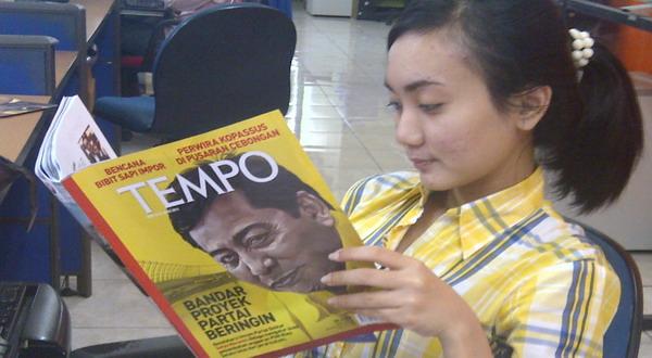 Majalah Tempo tak beredar dipasaran (Foto: Tebe Ardi/Okezone)