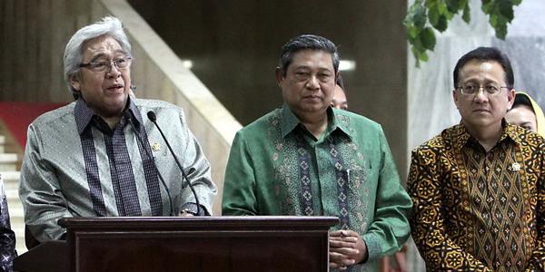 Taufiq Kiemas bersama Presiden SBY (Foto: Dok Okezone)