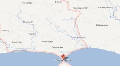 Peta Pangandaran (googlemap)