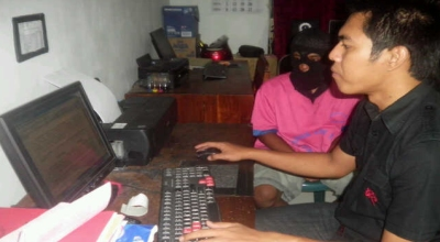 Rh diperiksa polisi (Dok: Pipiet Wibawanto/Sindo TV)