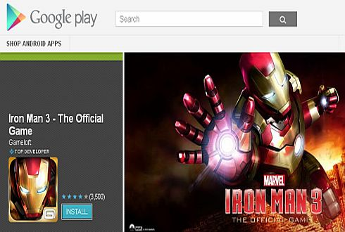 Game Iron Man 3 Hadir di Android