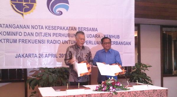 SDPPI & Ditjen Perhubungan Udara Tandatangani MoU Spektrum Frekuensi Radio Penerbangan