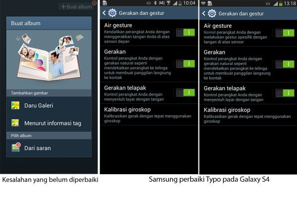 Kata Porno Lenyap dari Galaxy S4 tapi Masih Typo