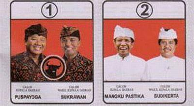 Surat suara Pilgub Bali