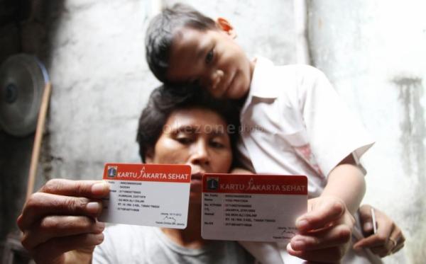 Kartu Jakarta Sehat (Foto: Heru/Okezone)