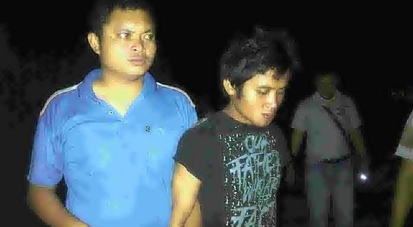 Wili Purba diamankan polisi (Foto: Gusti Y/Sindo TV)