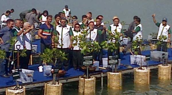 SBY dan CR7 di Tanjung Benoa (Foto: Rohmat/Okezone)